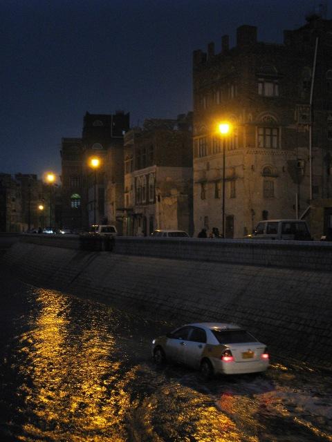 flooded Sanaa streets
