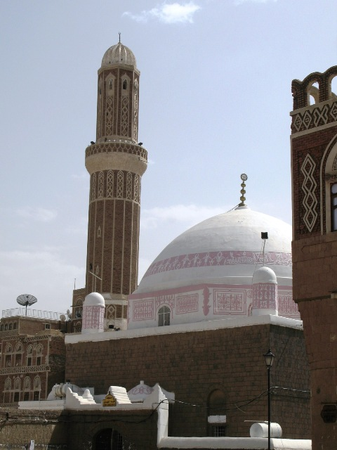 Gotta love the pink mosque dome!