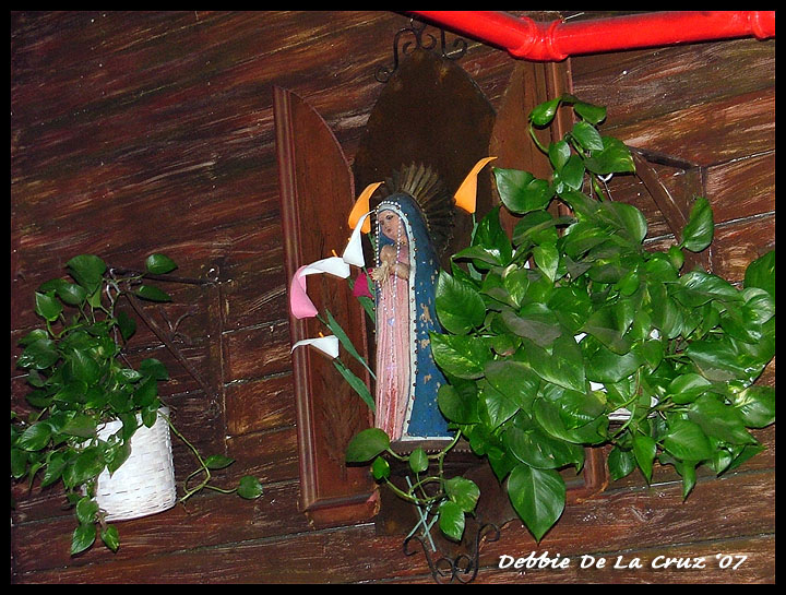 Virgen at the Mexican Resturant