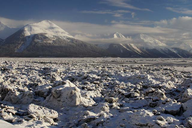 Wide Angle View Of Turnagain Ice Field