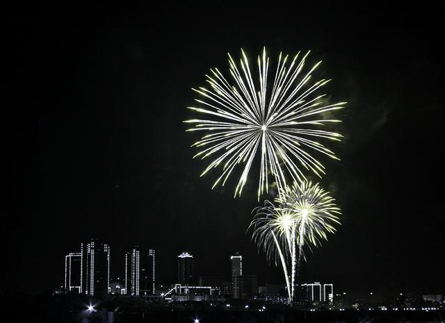 Fireworks over Ft Worth, TX.