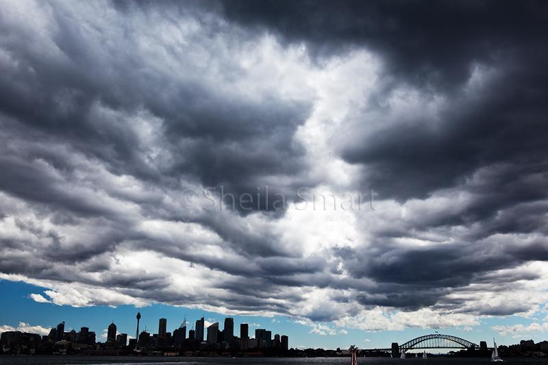 Stormclouds over Sydney Harbour