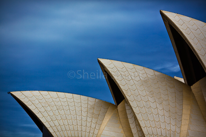Sydney Opera House sails in close up
