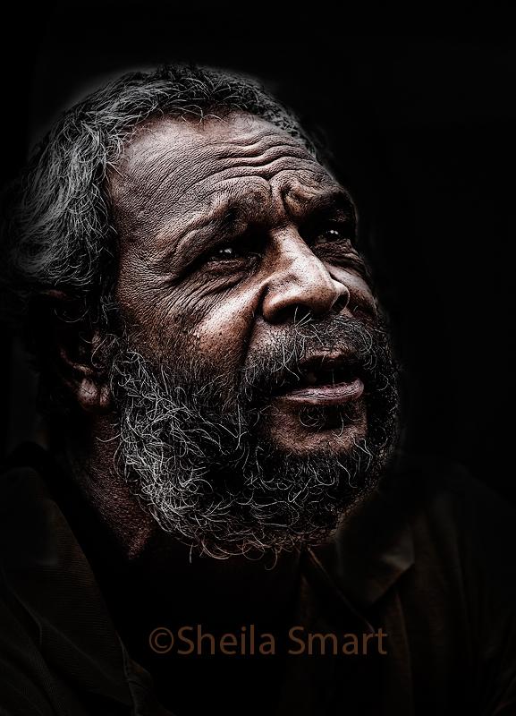 Aboriginal man at Quay