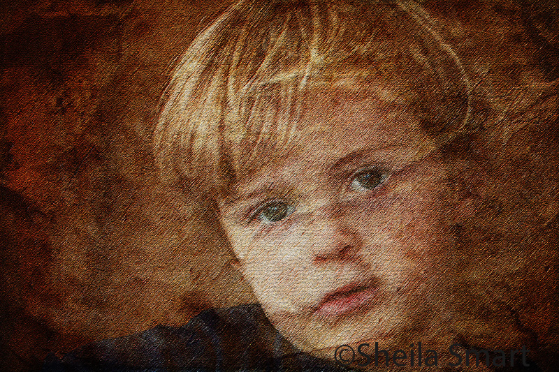 Elliot with texture background