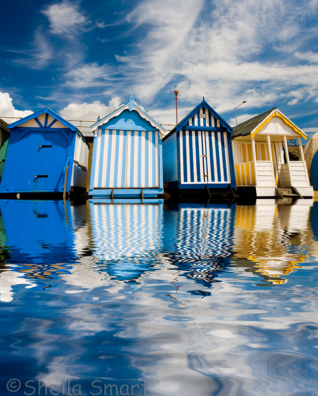 Beach huts at Southend on Sea, Essex