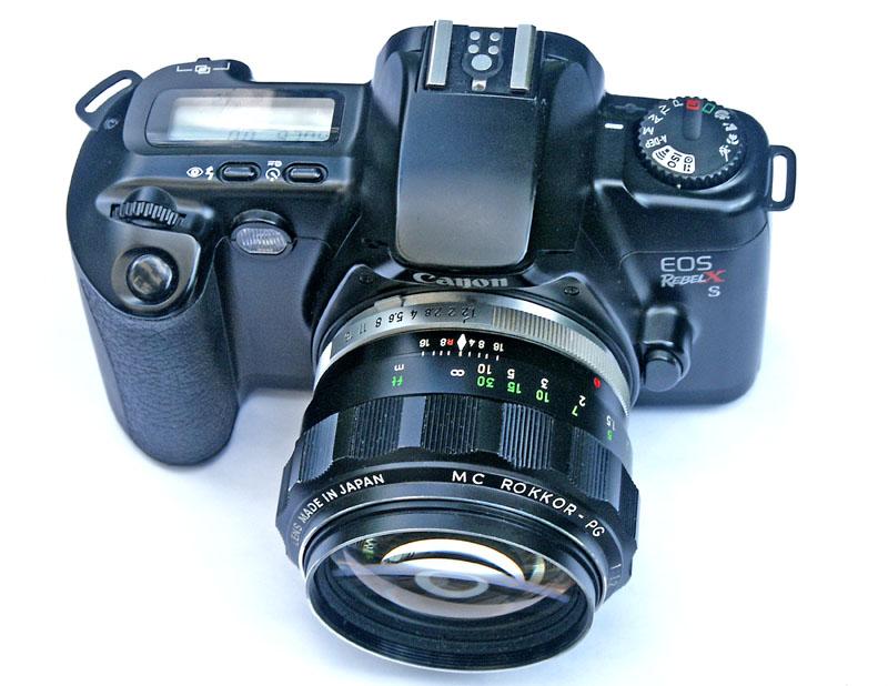 EOS on Camera 0018.jpg f1.2 Rokkor on Canon EOS