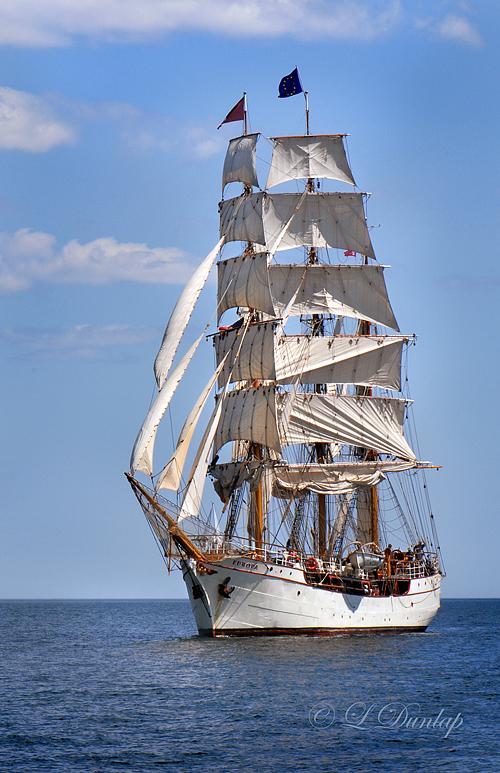 Tall Ships TS11: Barque Europa on Lake Superior, Vertical