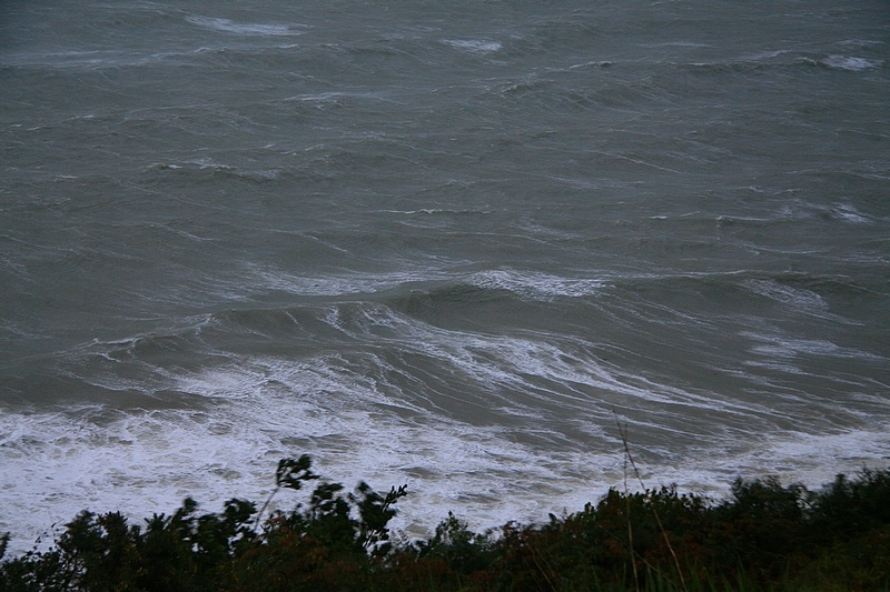 Rough waters below our house.