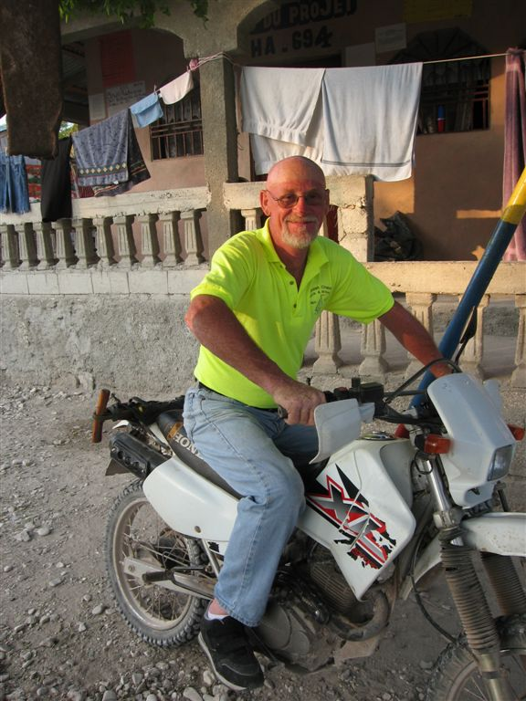 Scotty and the Harley  (well, it was a motorbike maybe not a Harley)