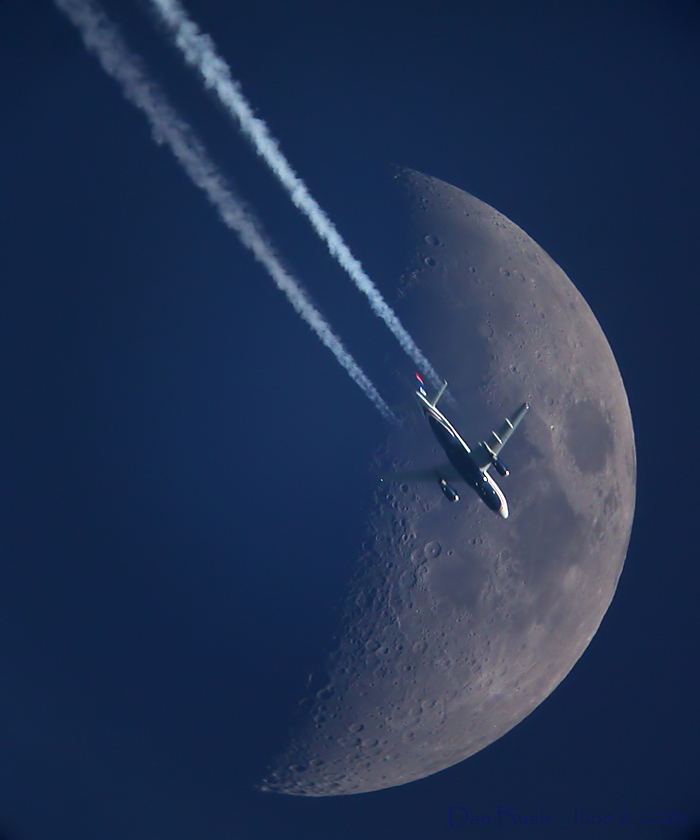 Moon & Plane