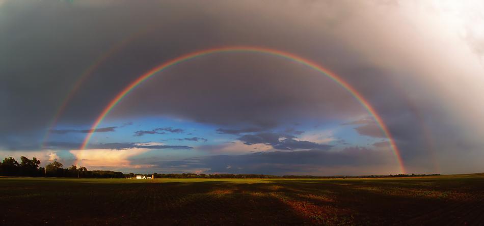 Rainbow Over Hall Bottom