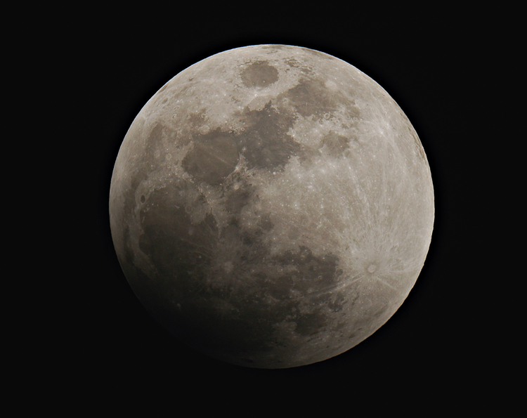 Partial Phase of February Eclipse