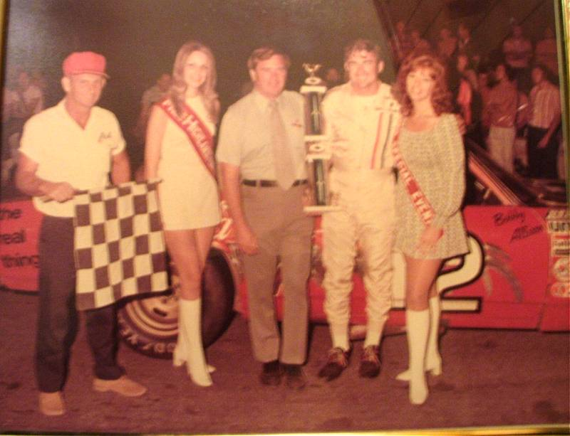 Flagman Maxey Grubbs Highland Rim Speedway Bobby Allison Winner