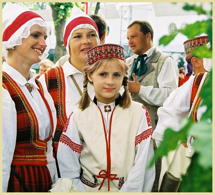 A Girl in Latvian national costume