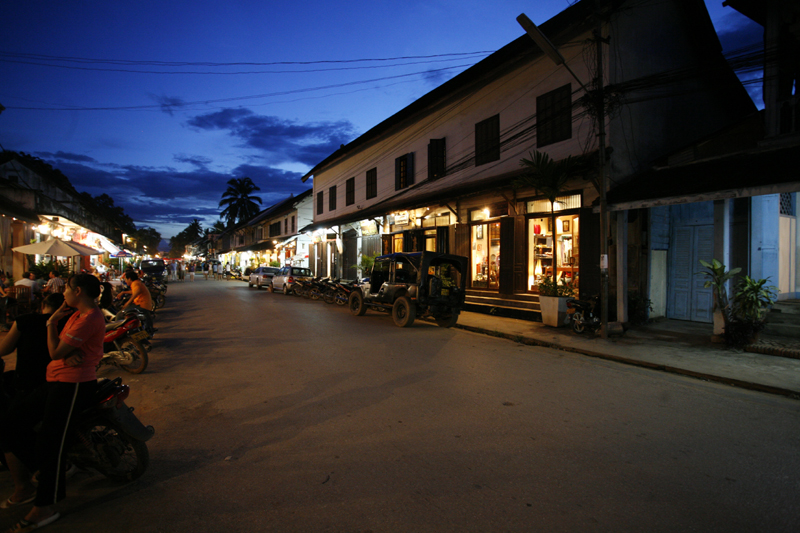View of Luang Prabang in Early Evening 1