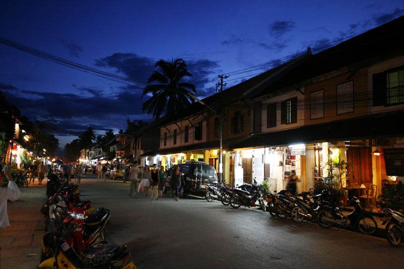 View of Luang Prabang in Early Evening 2
