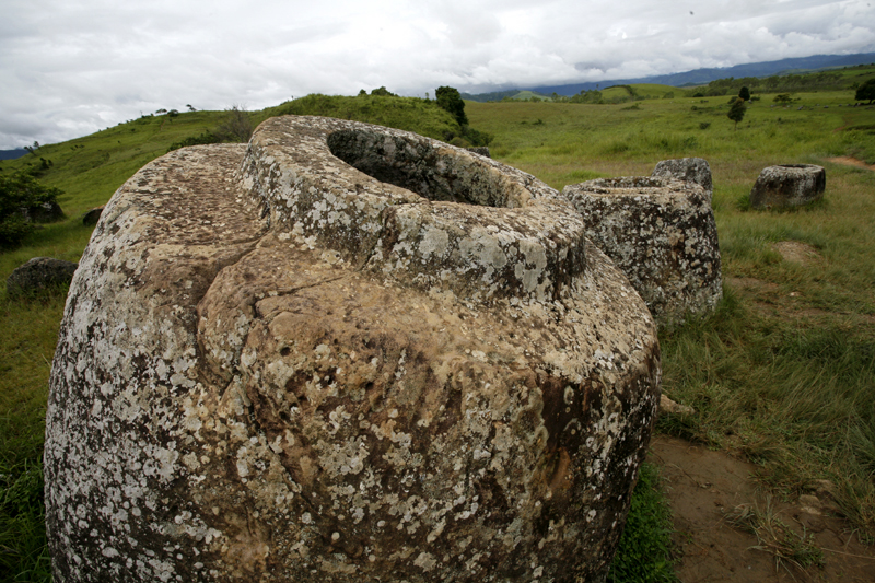Giant Jar, Plain of Jars, Xieng Kouang, Laos