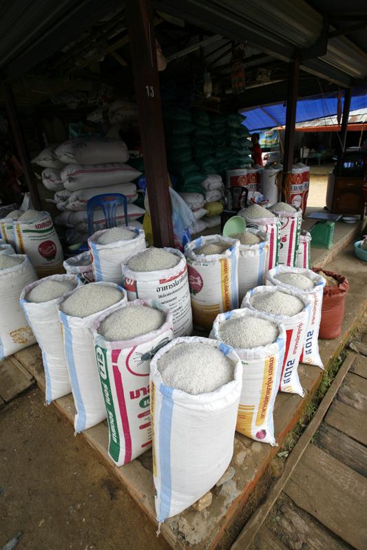Sacks of Rice, Xieng Kouang, Laos