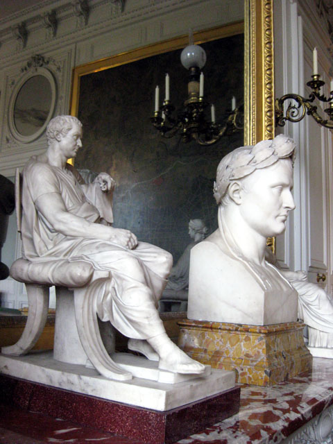 Evidence of Napoleon throughout the chateau