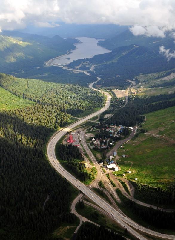 Snoqualmie Ski Area and Lake Keechelus