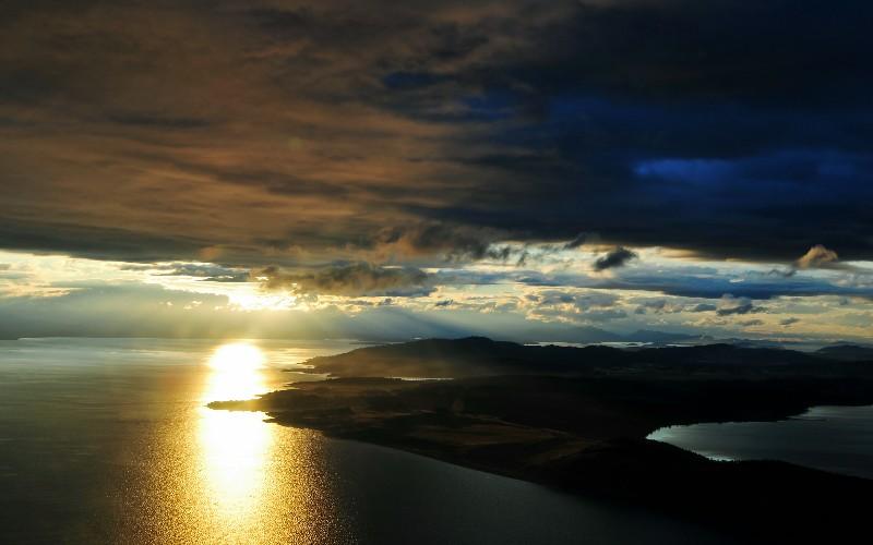 San Juan Island golden sunset