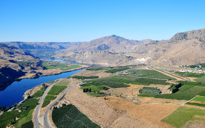 Columbia River by Chelan airport