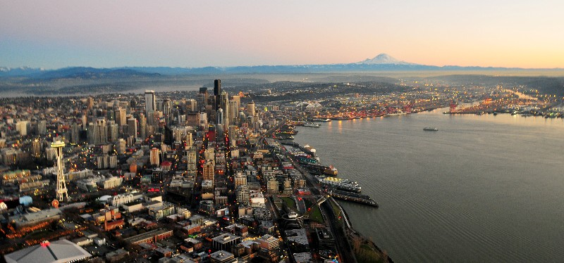 Seattle and Rainier