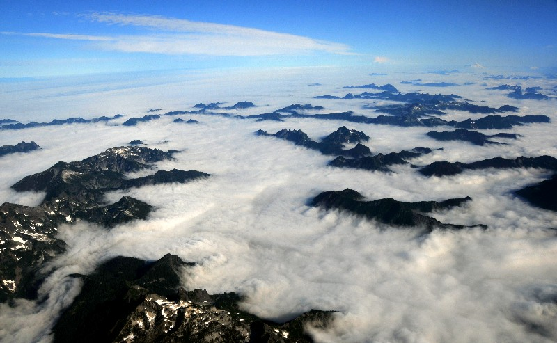 mountains in sea of cloud