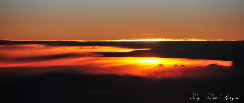 turbulence sunset