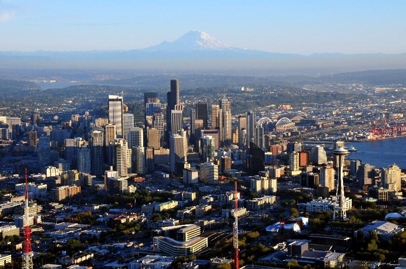 Downtown Seattle and surrounding neighborhoods