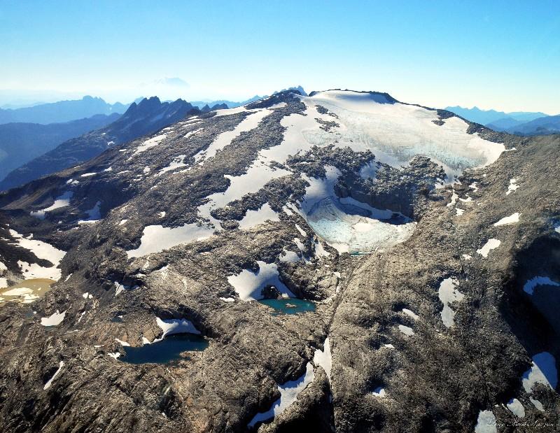 Mt Hinman and glaciers