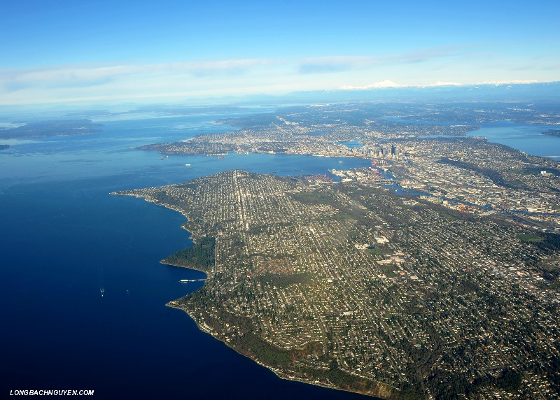 Harbor Visual over West Seattle and downtown Seattle