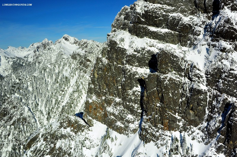 vertical wall on Gothic Peak