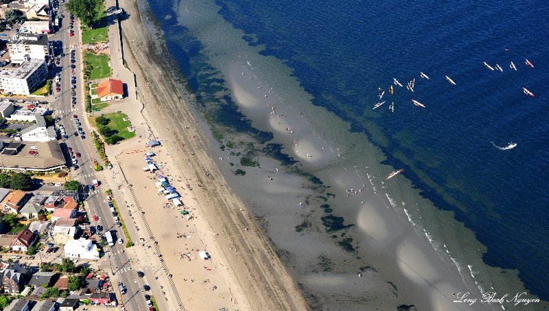 summer on Alki Beach West Seattle