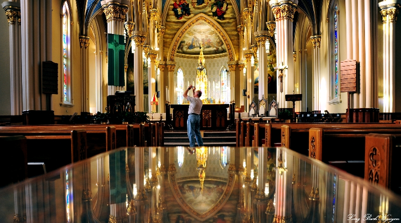 Basilica of Sacred Heart Alter and reflection