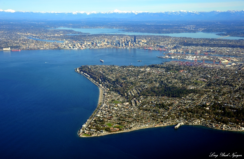 Alki West Seattle and downtown Seattle