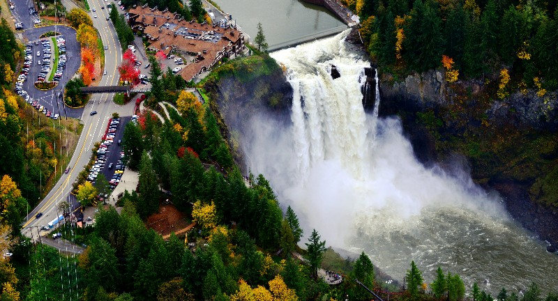 Snoqualmie Falls, Salish Lodge, Snoqulamie, Washington