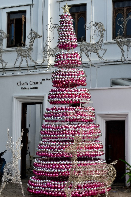 Saigon, Christmas decorations, Cham Charm, Phu My Hung, Vietnam