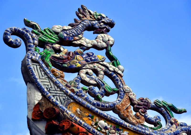 dragon ,Tam Thai pagoda, Marble Mountains, Da Nang, Vietnam