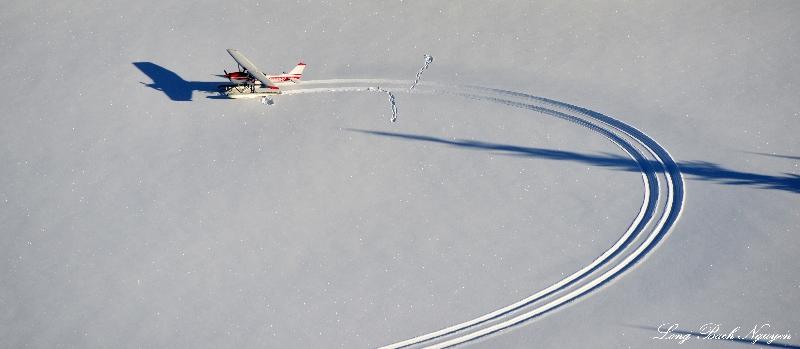 floatplane in the snow
