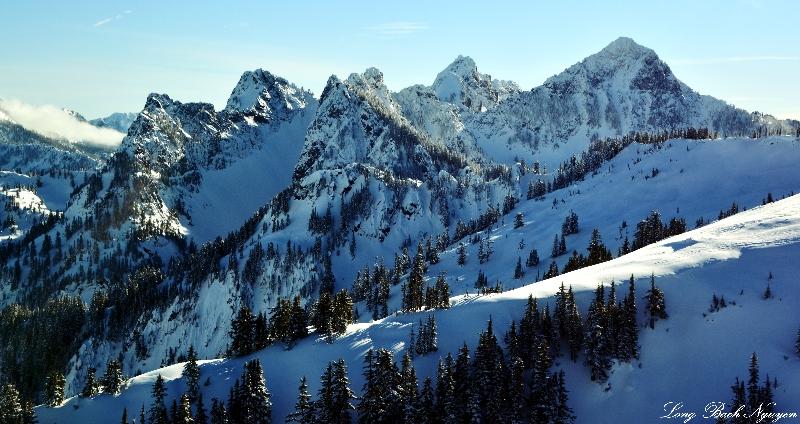 Kaleetan Peak, Chair Peak Glacier, Chair Peak, Cascade Mountains, Washington