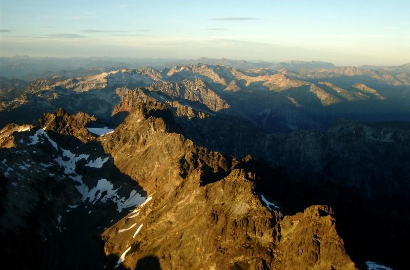 rugged crest of Cascades