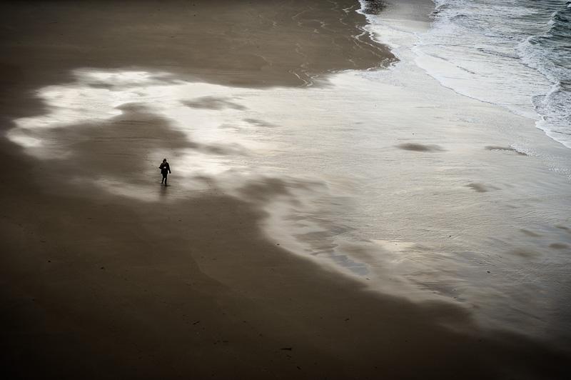 Sur la plage.