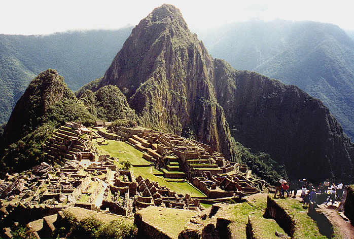 Huayna Picchu enjoyed  by group at right, below