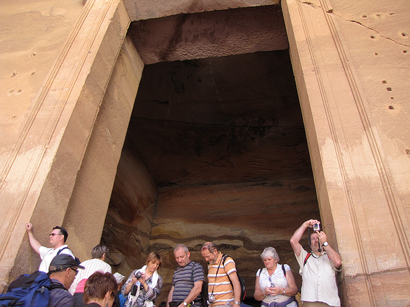 Getting closer to the humongous doorway