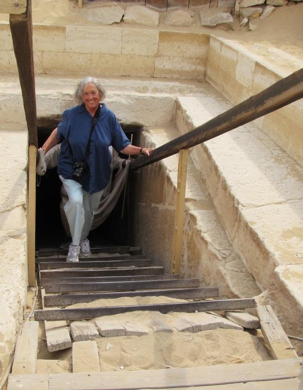 Mary Ann, leaving Pyramid of Titi (Teti) - Dahshur