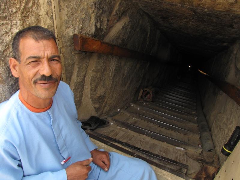 Caretaker at Red Pyramid - Dahshur