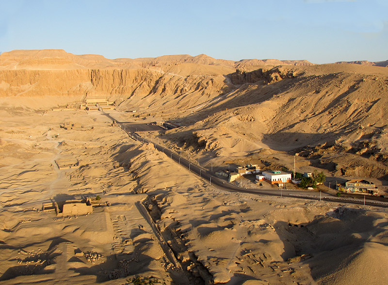 A view of the area  with Hatshepsuts temple
