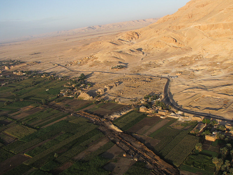 The fertile section meets the desert area